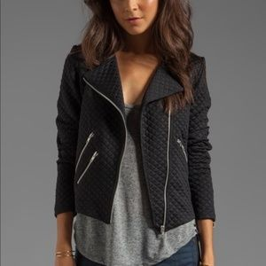 Generation Love Duncan Quilted Moto Jacket Black